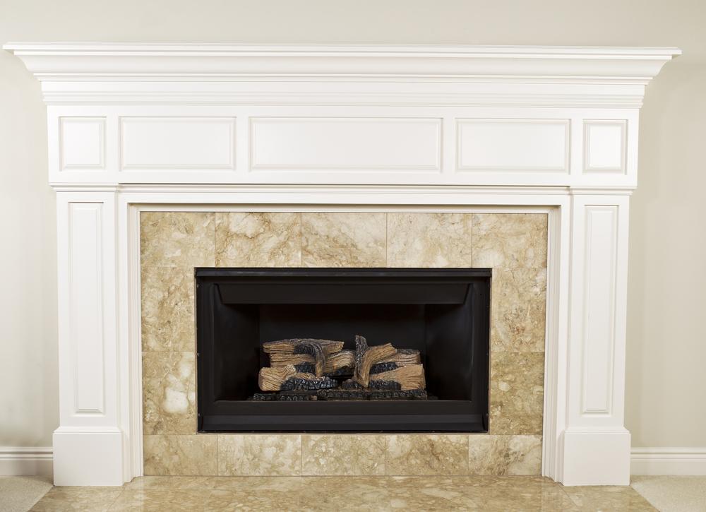 gas mantel fireplace